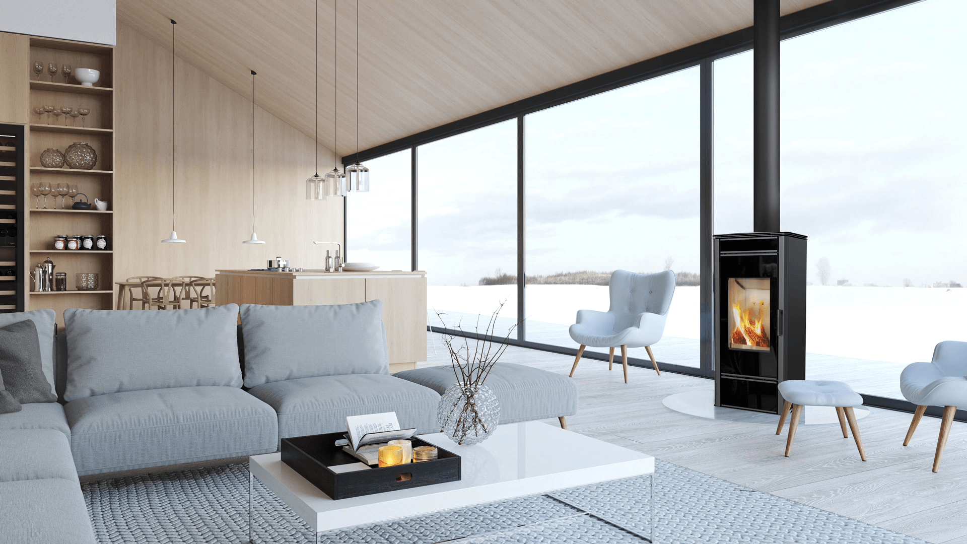 Kratki Titan Glass closed combustion fireplace south africa