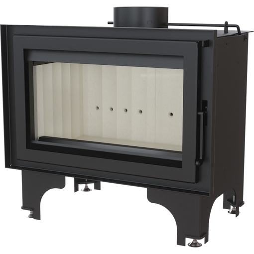 Kratki Basia built-in fireplace